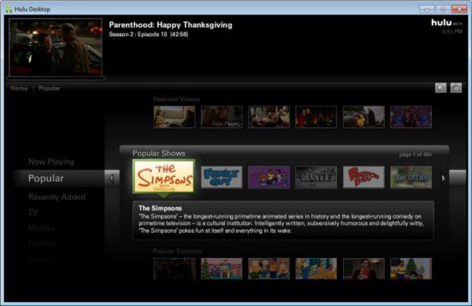 Hulu Desktop