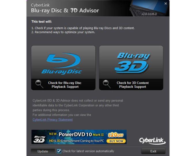 CyberLink BD & 3D Advisor