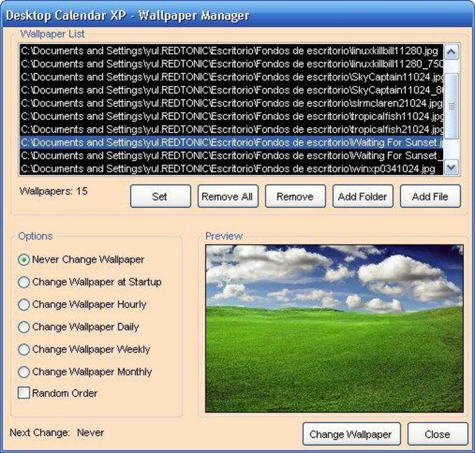 Desktop Calendar XP