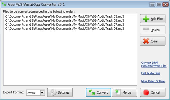 Free Mp3/Wma/Ogg Converter - Download