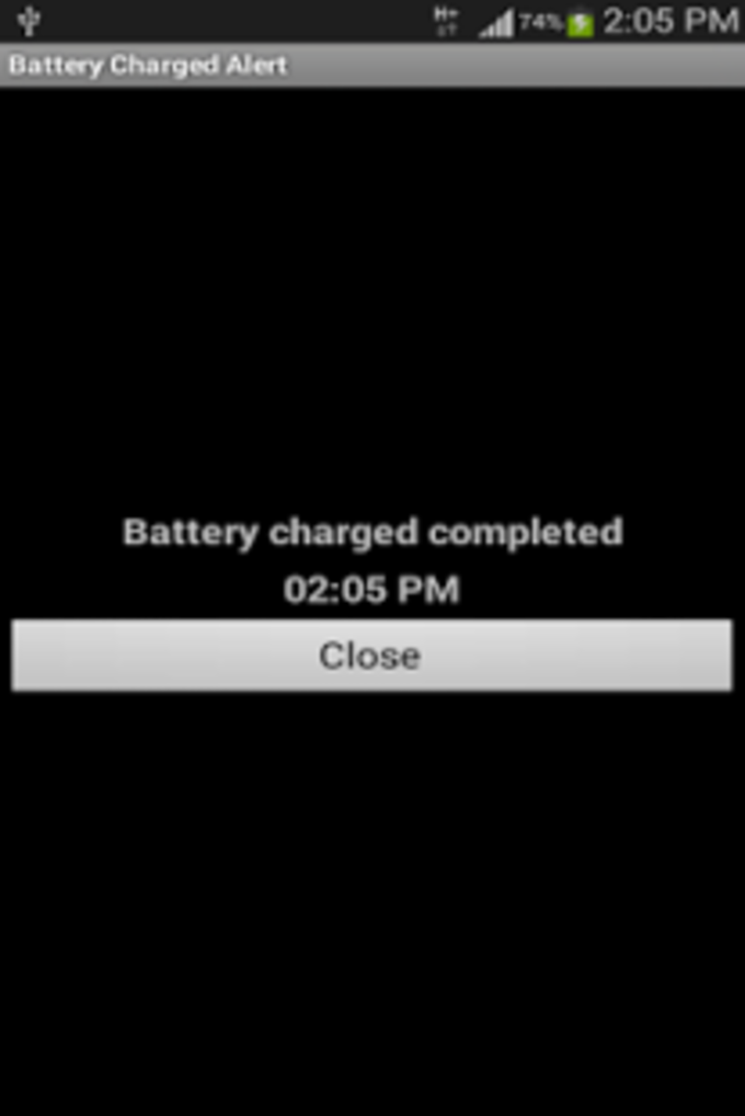 Battery Charged Alert Ad
