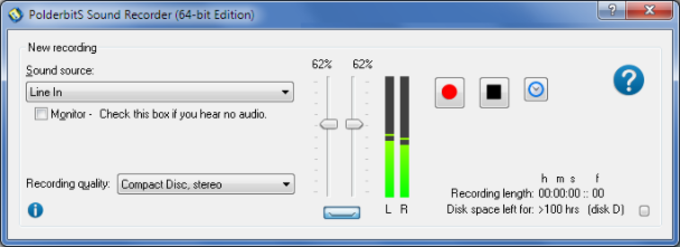 Sound Recorder and Editor PolderbitS