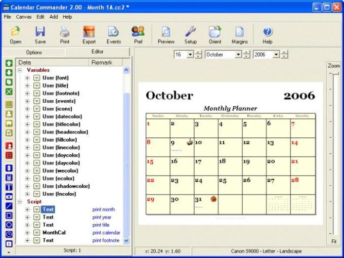 Calendar Commander