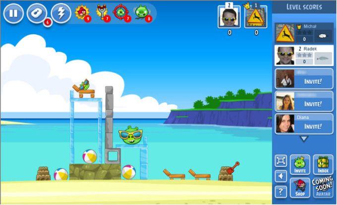 Angry Birds Friends sur Facebook