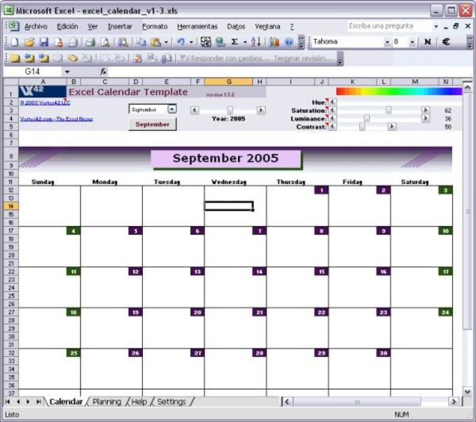 Excel Calendar Template Download