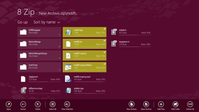 8 Zip for Windows 10