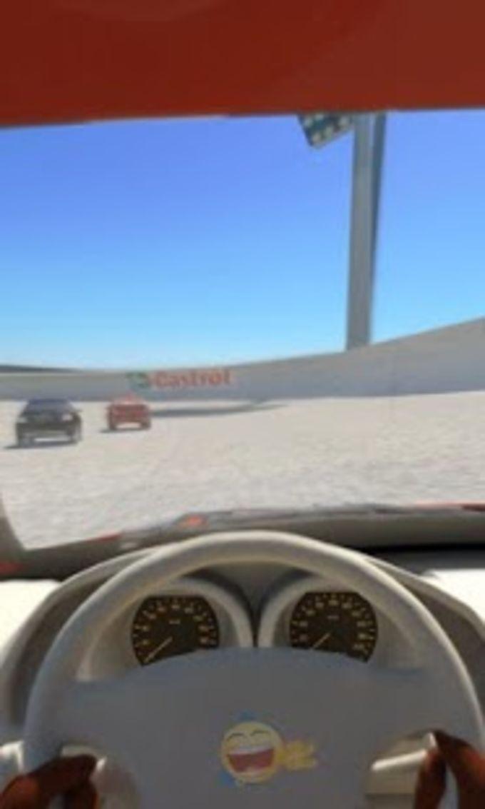 Coche de carreras 3D vía