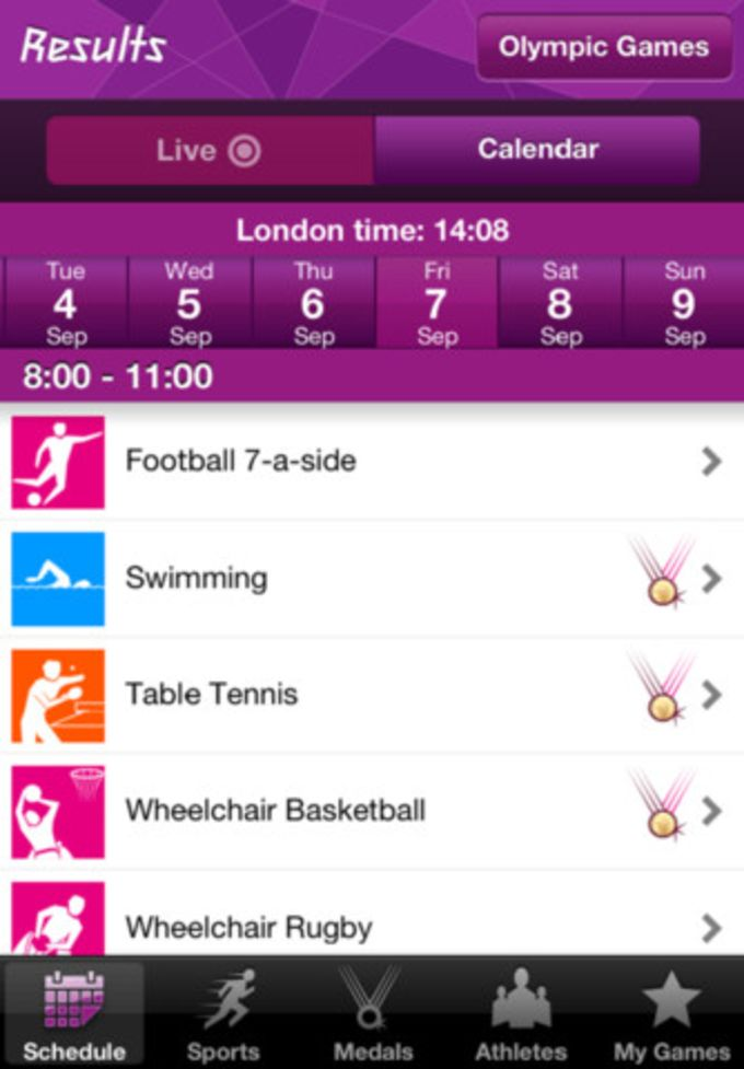 London 2012 Results App