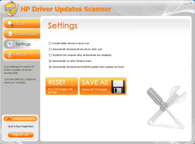 HP Driver Updates Scanner