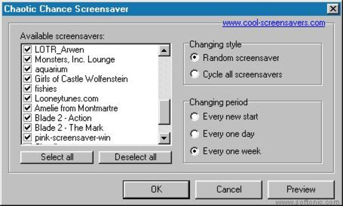 Chaotic Chance Screensaver Manager