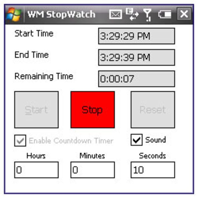 Windows Mobile StopWatch