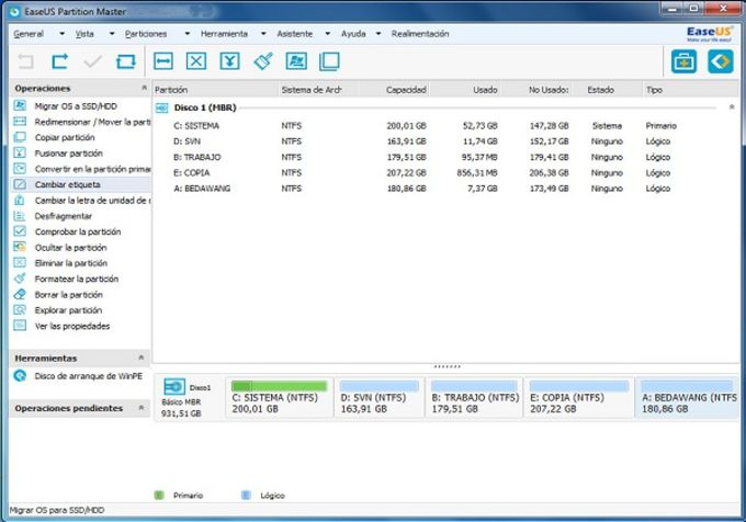 EASEUS Partition Master Server Edition