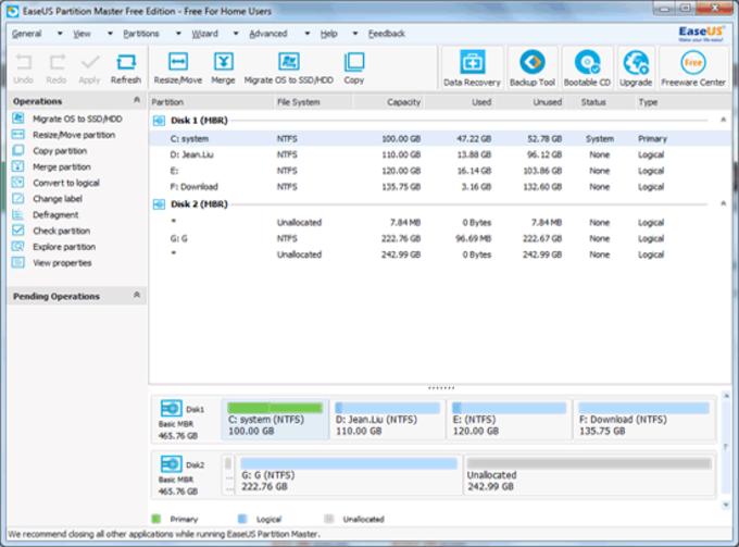 EASEUS Partition Master Server Edition
