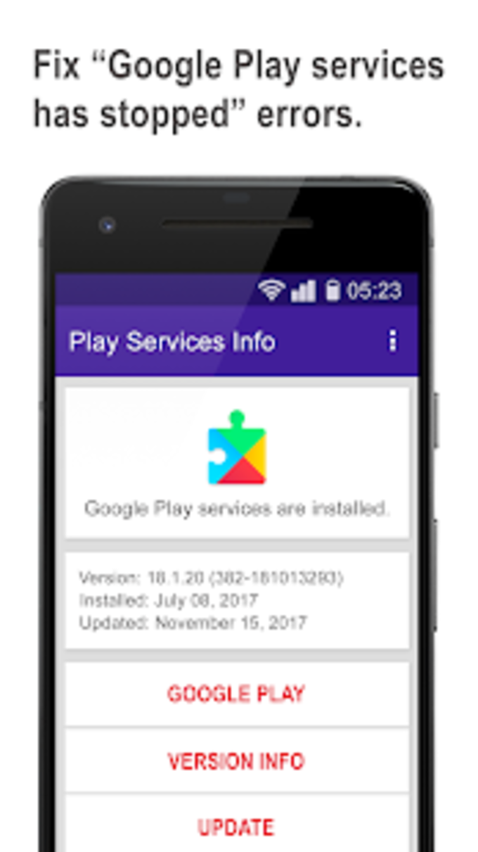 Play services update  info