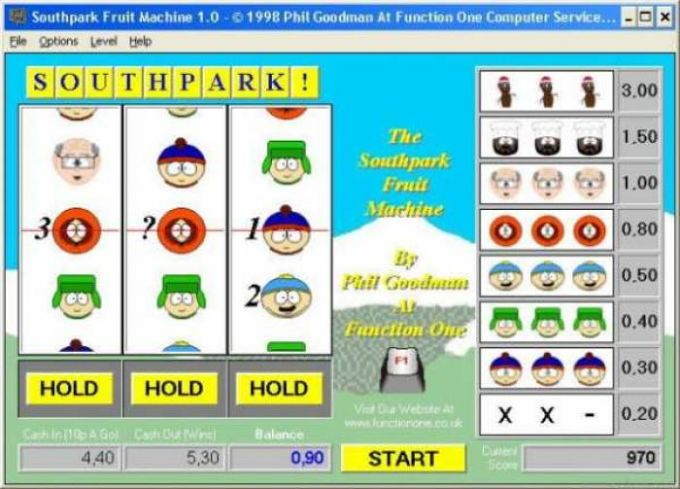 South Park Fruit Machine