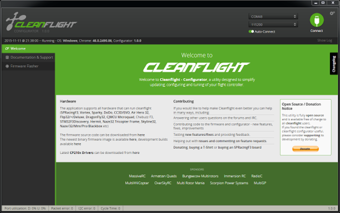 Cleanflight - Configurator