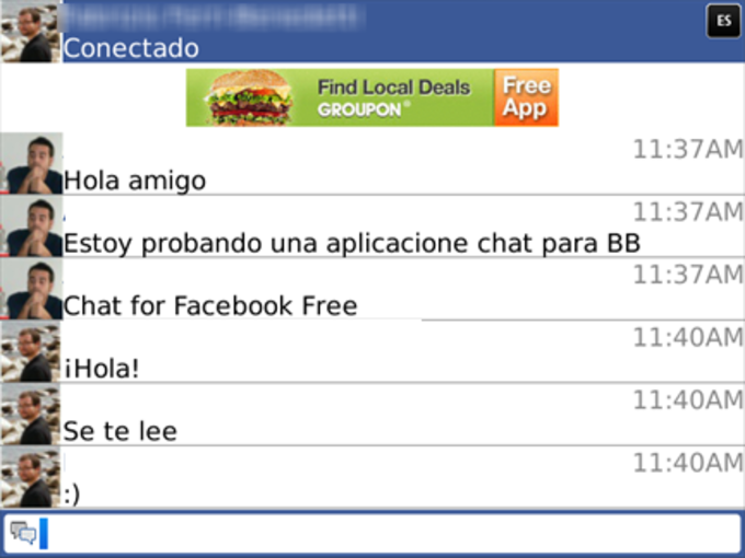Chat on Facebook