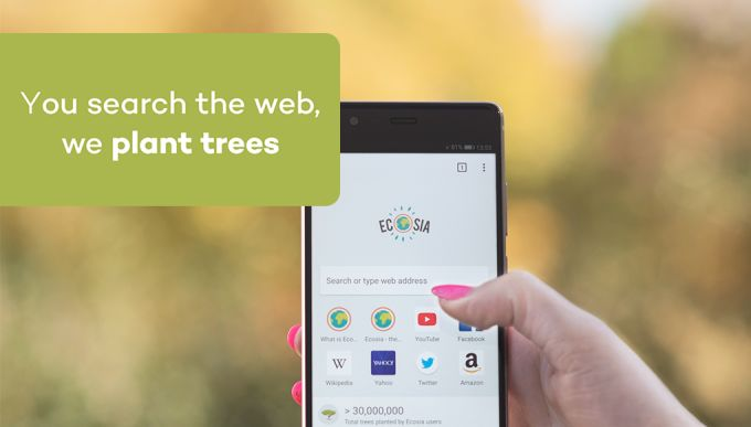 Ecosia Browser - Trees & Privacy