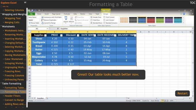 Explore Excel