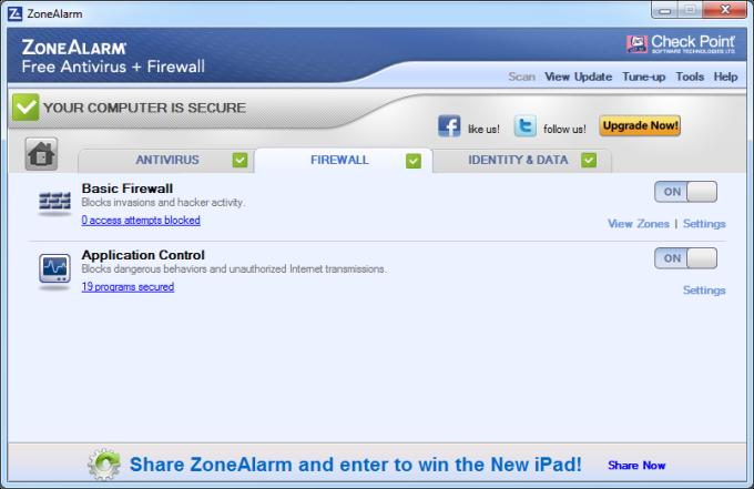 ZoneAlarm Free Antivirus + Firewall 2017