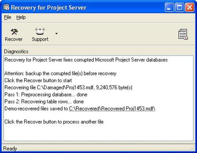 Recovery for Project Server