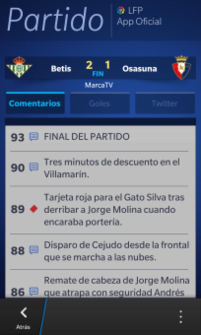 Liga de Fútbol Profesional. Aplicación Oficial 2012-2013