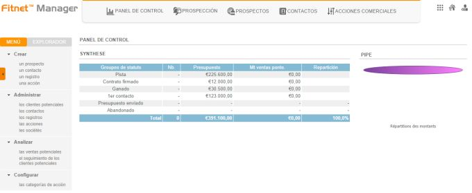 CRM Fitnet Manager