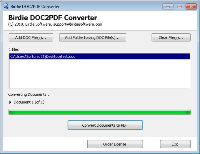 DOC2PDF Converter