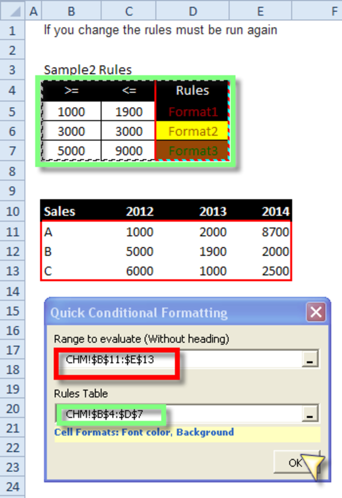 Quick Conditional Formatting for Excel