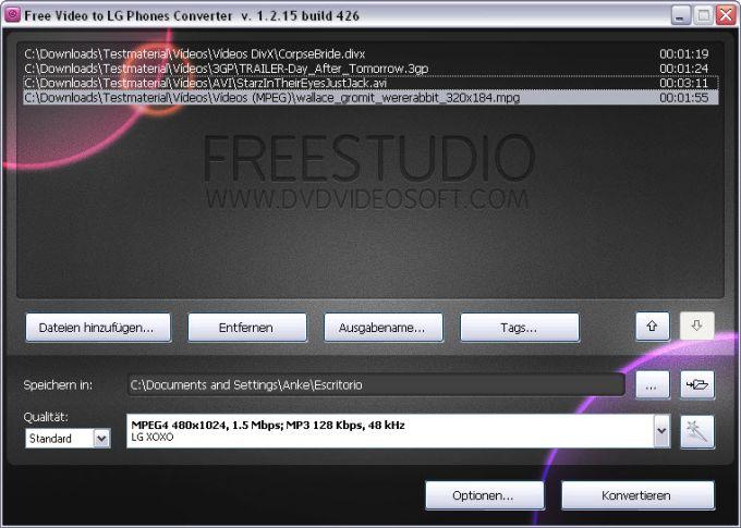 Free Video to LG Phones Converter