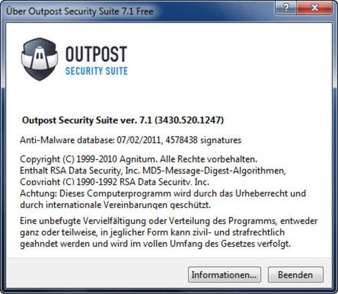 Agnitum Outpost Security Suite