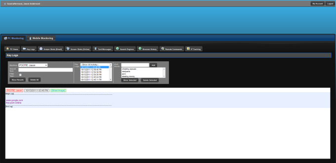 Desktop Shark Keylogger and PC Monitoring
