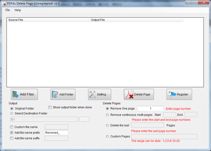 PDFdu Delete Page