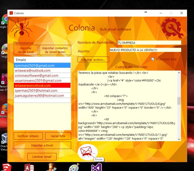 Colonia Bulk Email Software