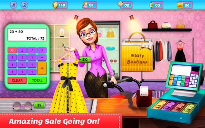 Shopping Mall Girl Cashier Game - Cash Register