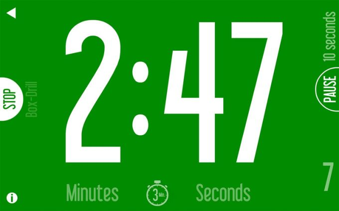 Basic Sports Timer: Countdown, Interval Timer & Box-Drill