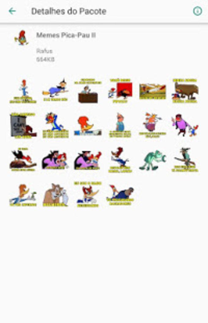 Memes Pica-Pau Stickers Figurinhas para Whatsapp