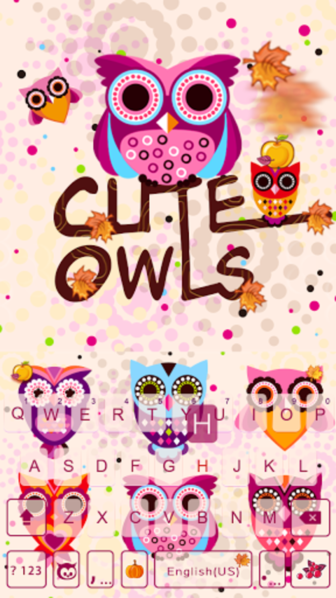 cute owls emoji keyboard theme for android download