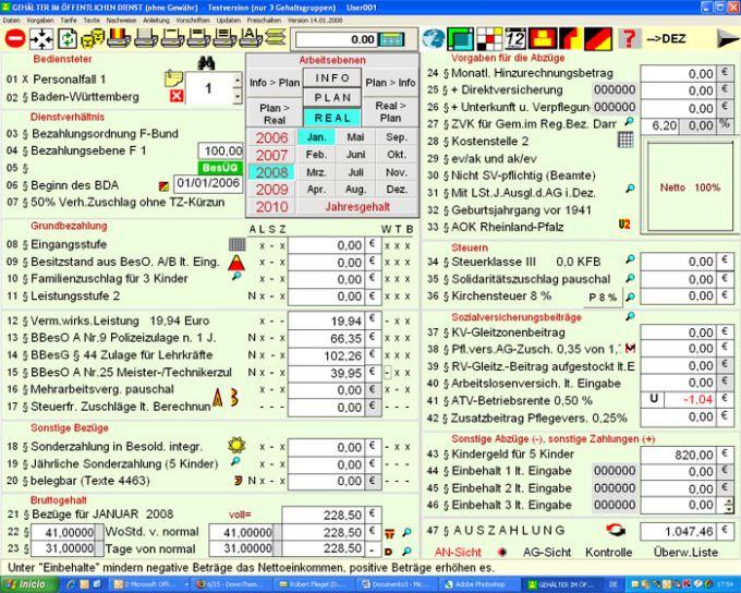Gehälter 2010 im öffentlichen Dienst