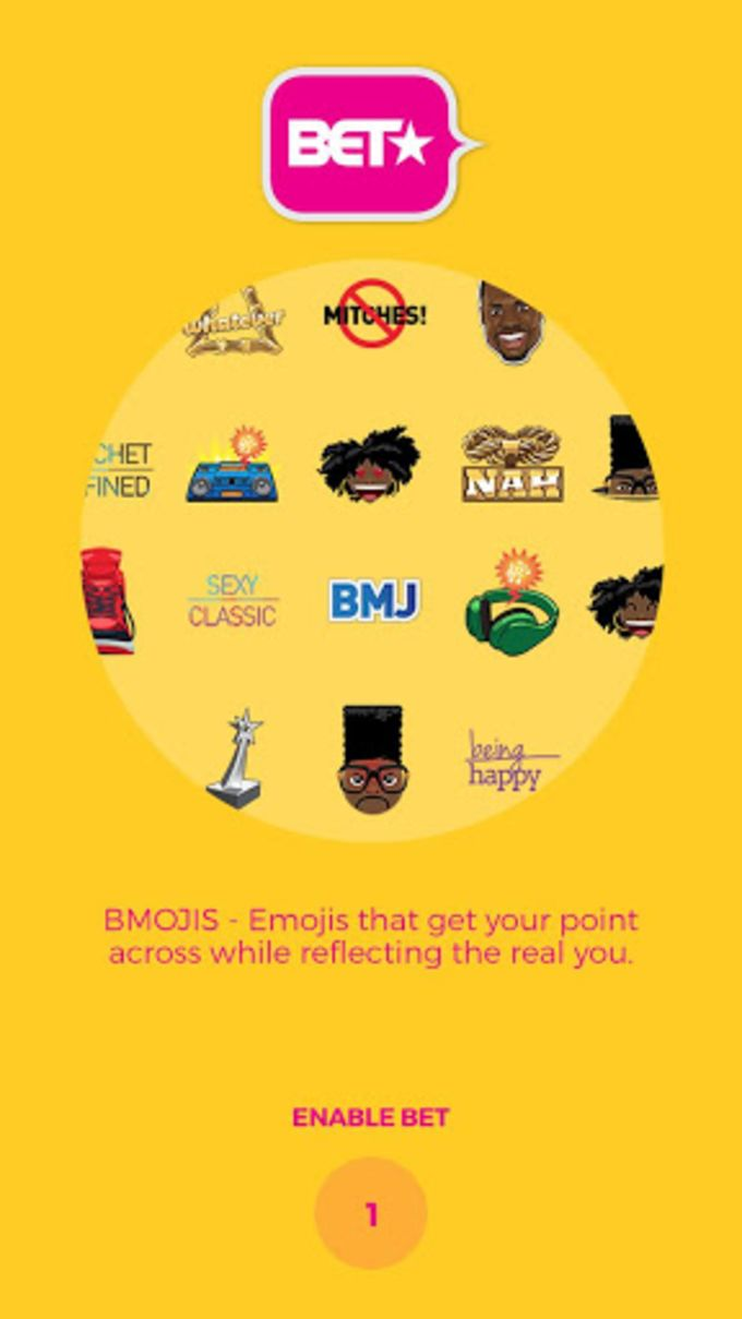 BET BMOJI EMOJI KEYBOARD