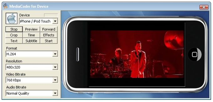 MediaCoder iPhone iPod Touch Edition