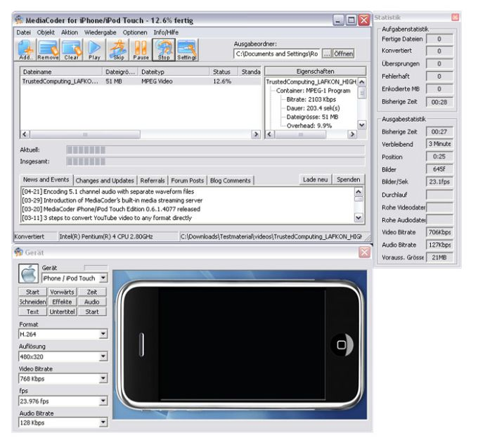 MediaCoder iPhone/iPod Touch/iPad Edition