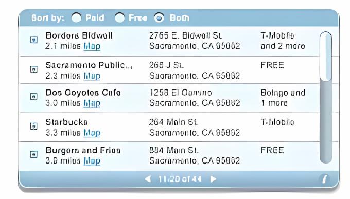 JiWire WiFi Hotspot Finder