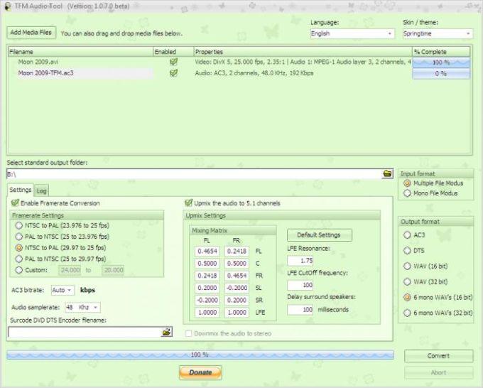 TFM Audio Tool