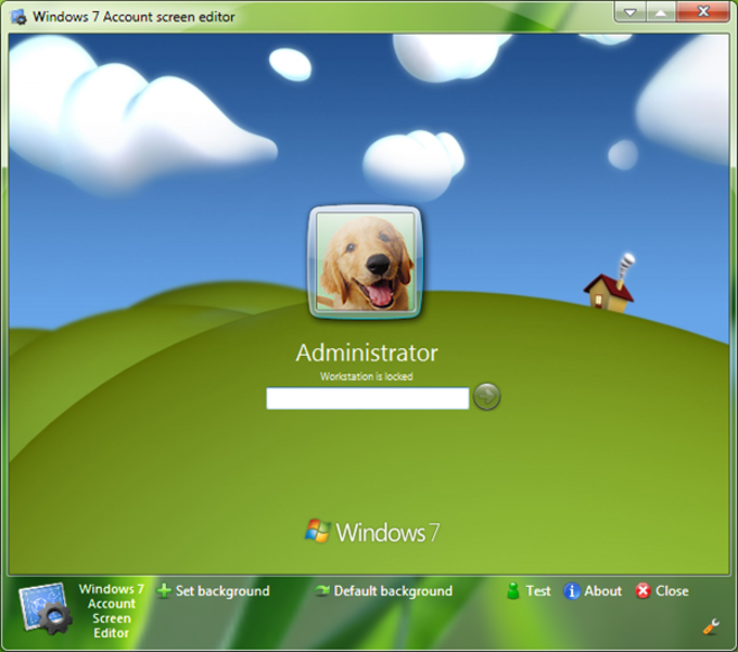 Windows 7 Account Screen Edition