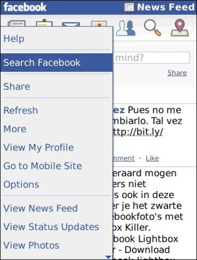 Facebook news feeds not updating on blackberry
