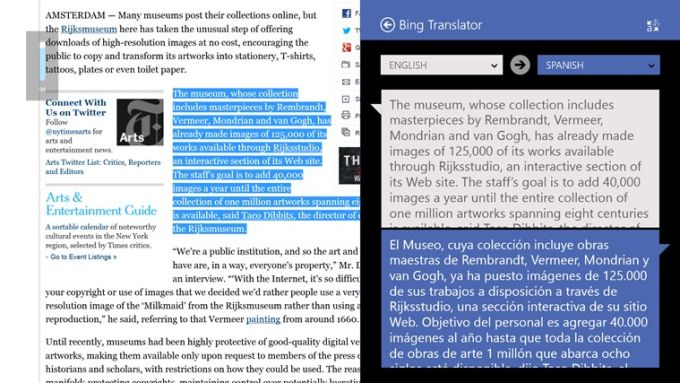 Bing Translator for Windows 10