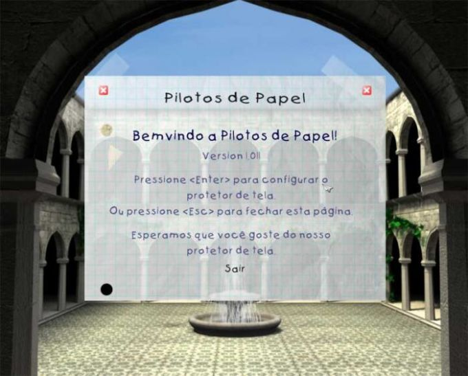 Pilotos de Papel Screensaver