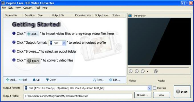 Icepine Free 3GP Video Converter