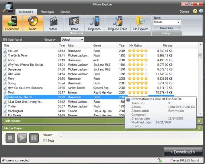 Softwareentwicklung iPhone Explorer